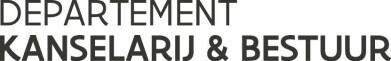 Departement Kanselarij en Bestuur logo